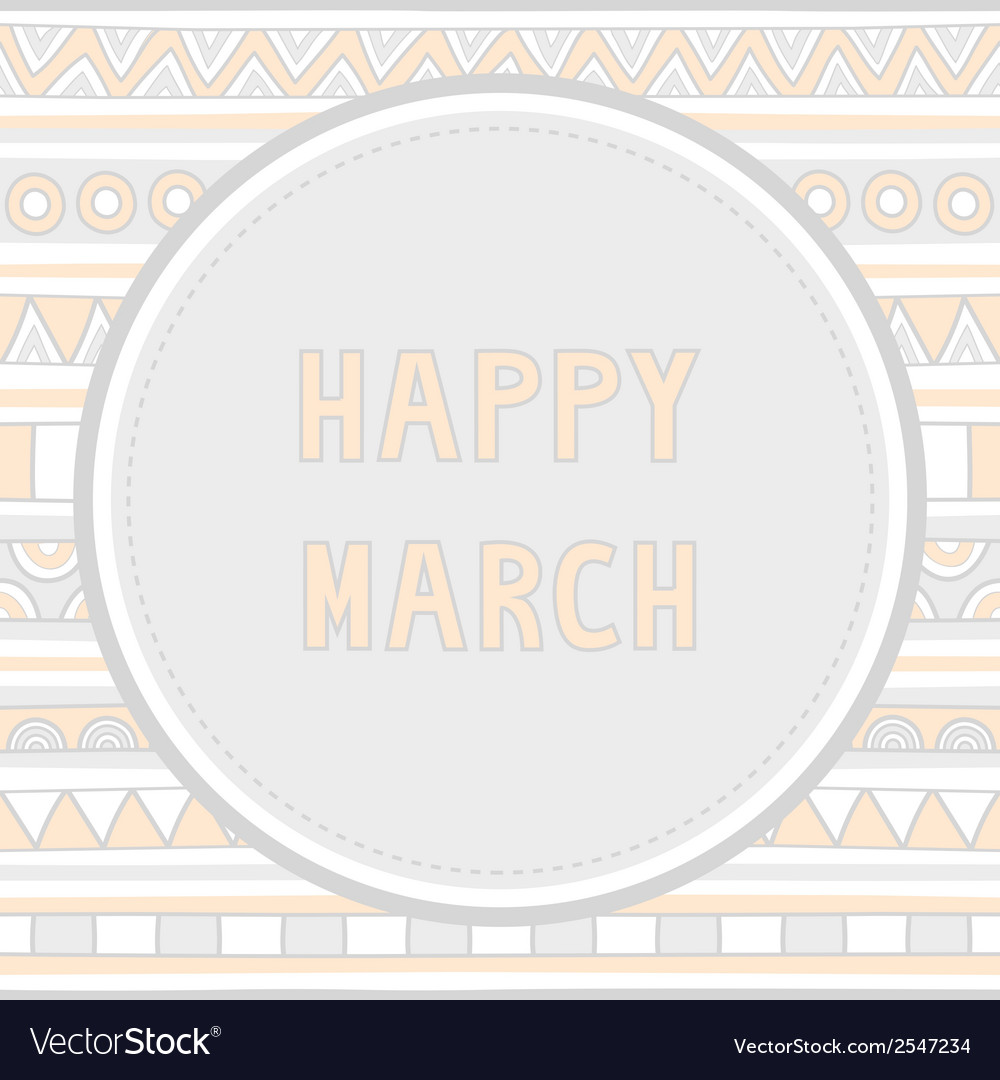 Happy march background1 vector | Price: 1 Credit (USD $1)