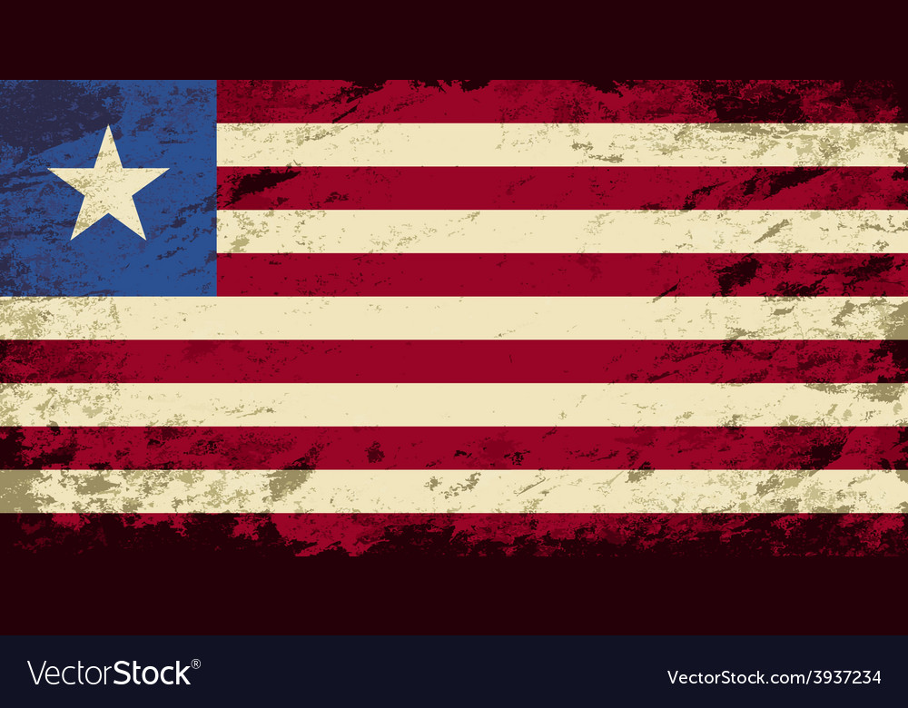Liberian flag grunge background vector | Price: 1 Credit (USD $1)