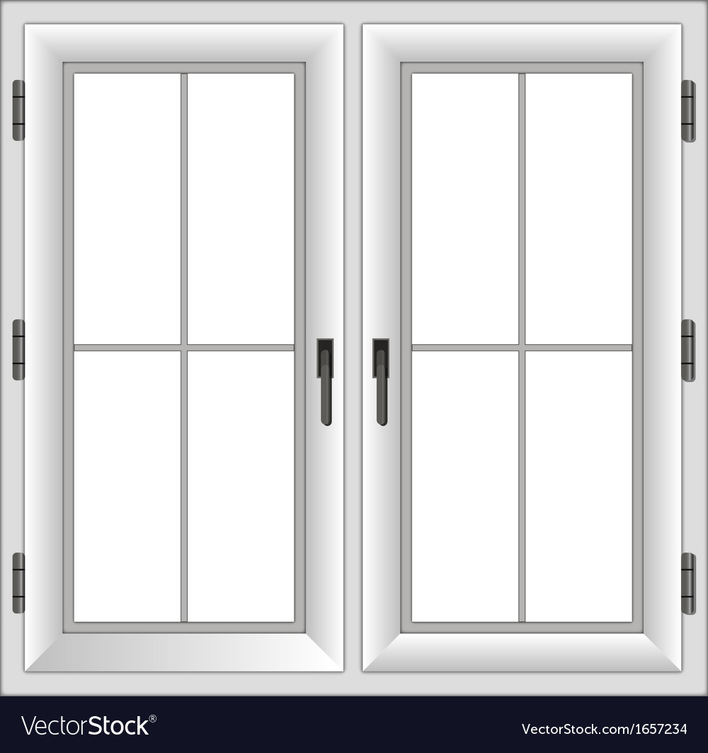 Plastic closed double window vector | Price: 1 Credit (USD $1)