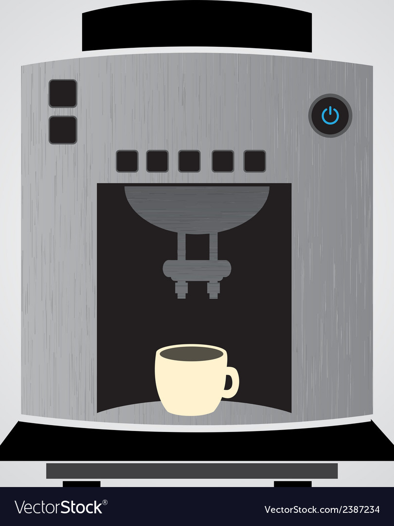 Silver coffeemaker espresso machine eps10 vector | Price: 1 Credit (USD $1)