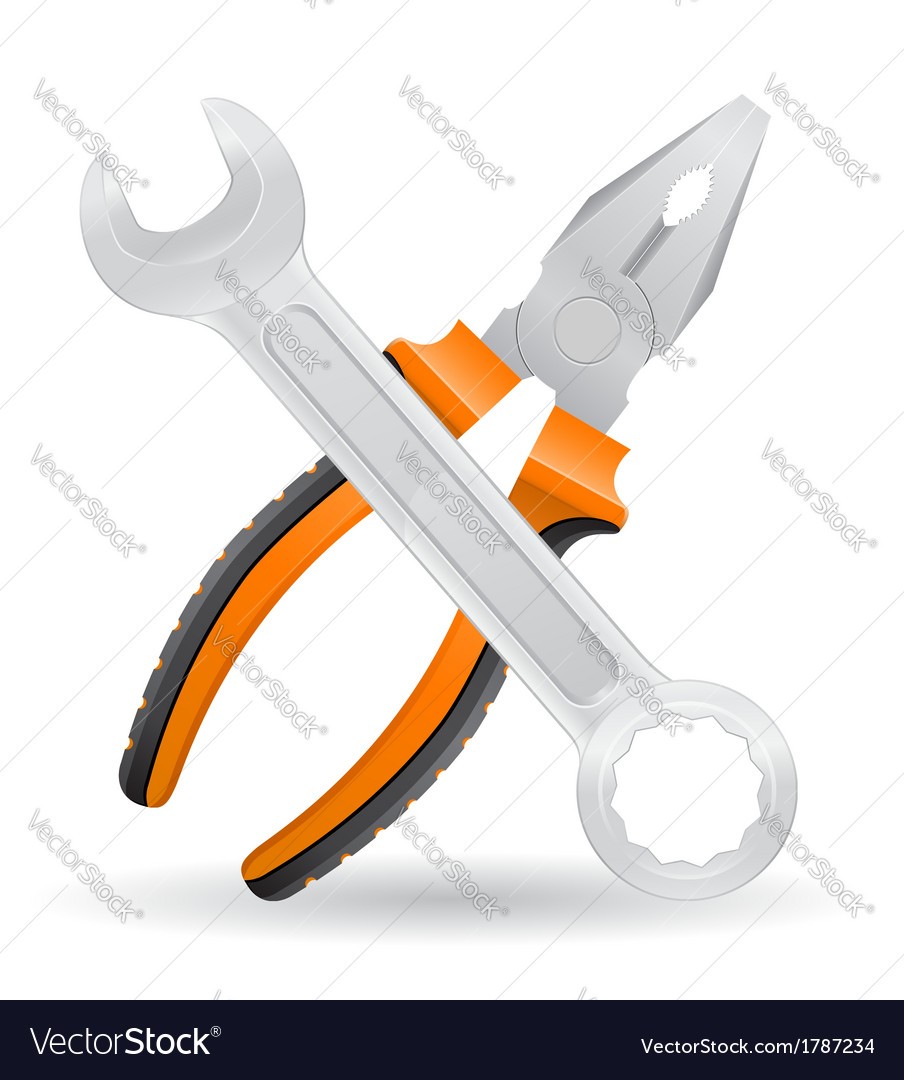 Tools spanner and pliers vector | Price: 1 Credit (USD $1)