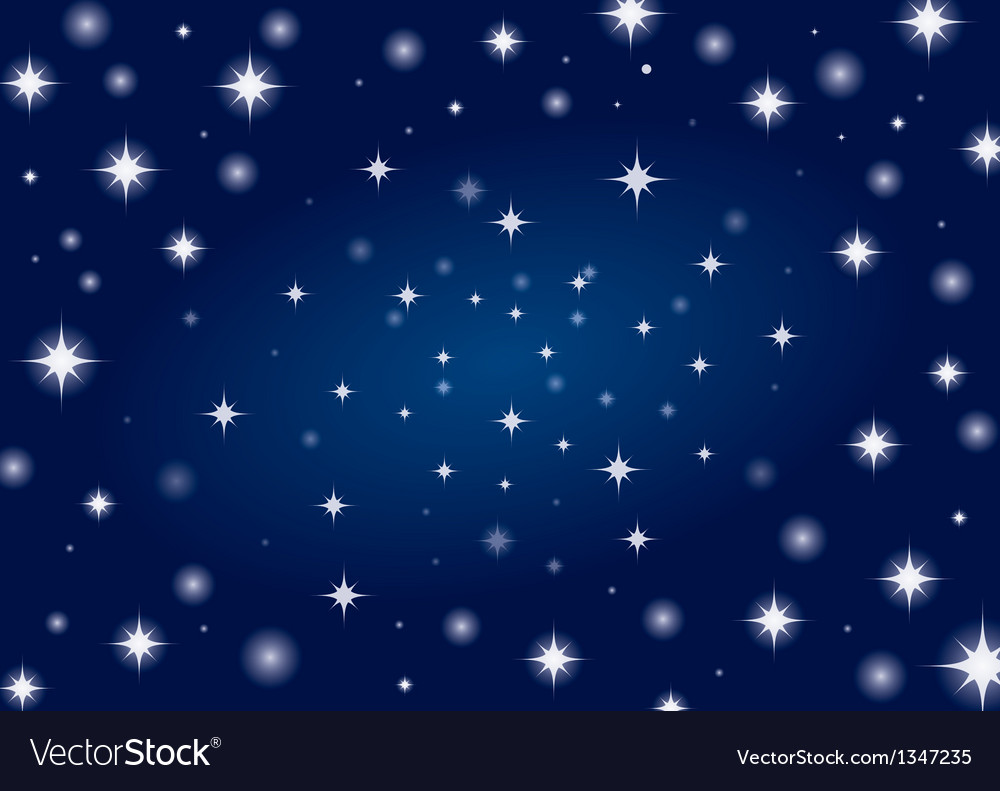 Beautiful night star vector | Price: 1 Credit (USD $1)
