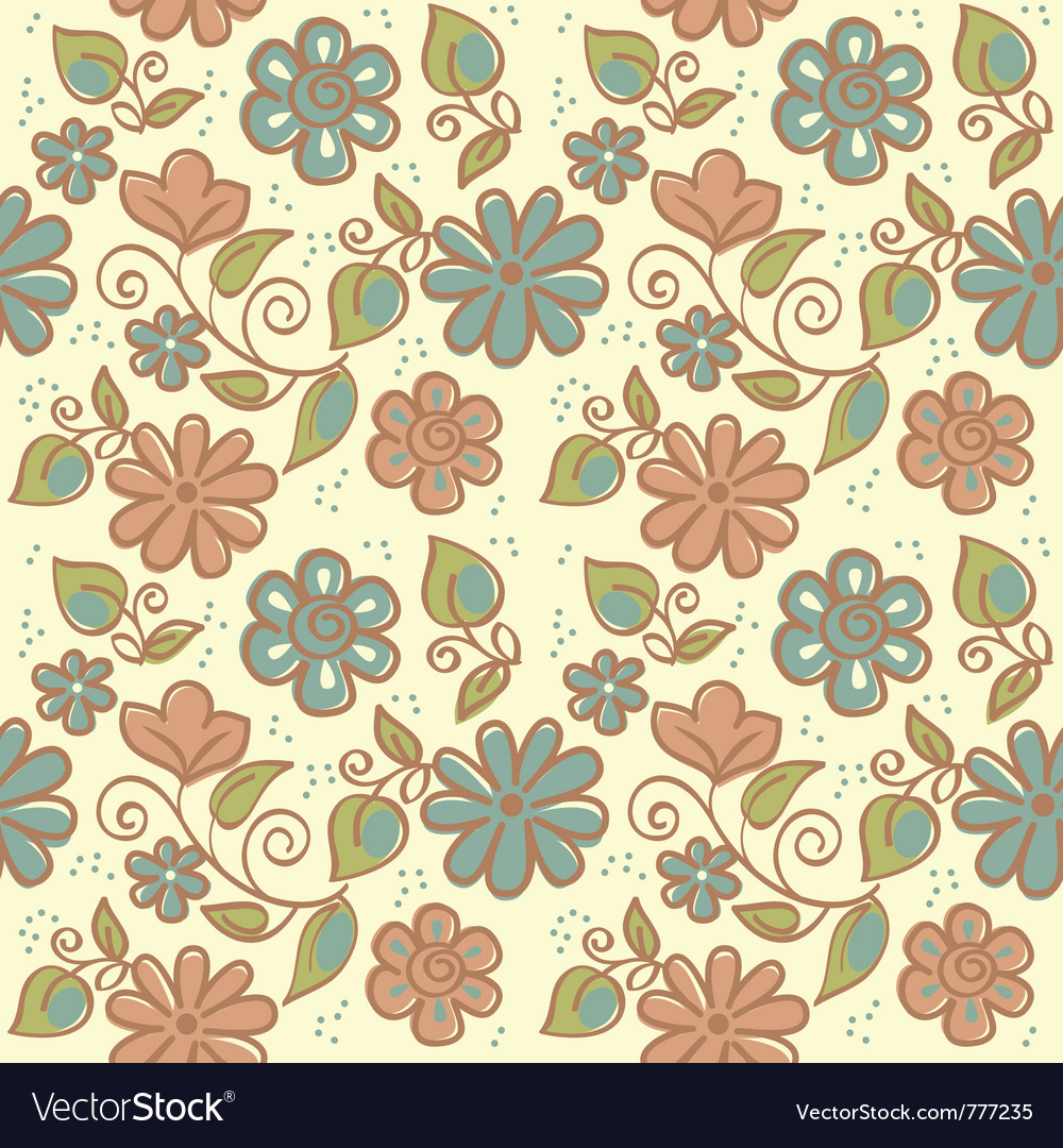 Floral ornament of summer background vector | Price: 1 Credit (USD $1)