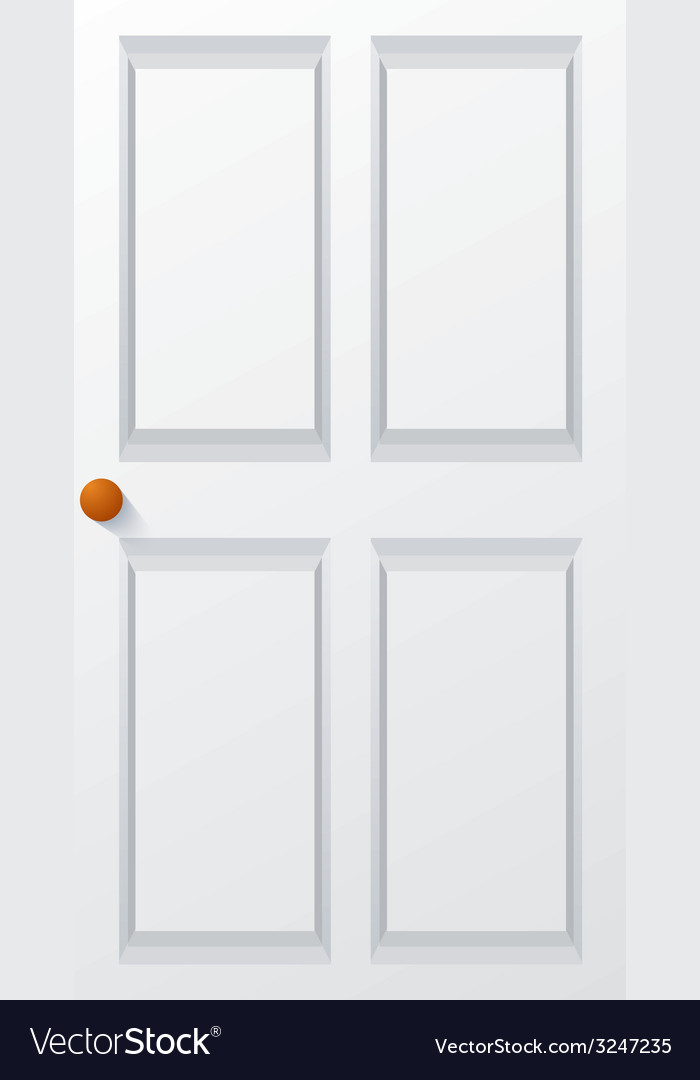Modern white door vector | Price: 1 Credit (USD $1)