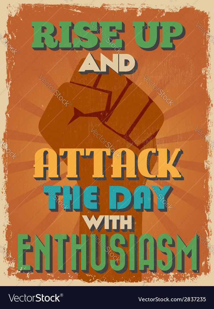 Retro vintage motivational quote poster vector | Price: 1 Credit (USD $1)