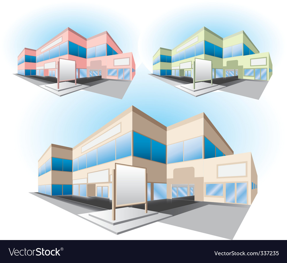 Shopping center building vector | Price: 1 Credit (USD $1)