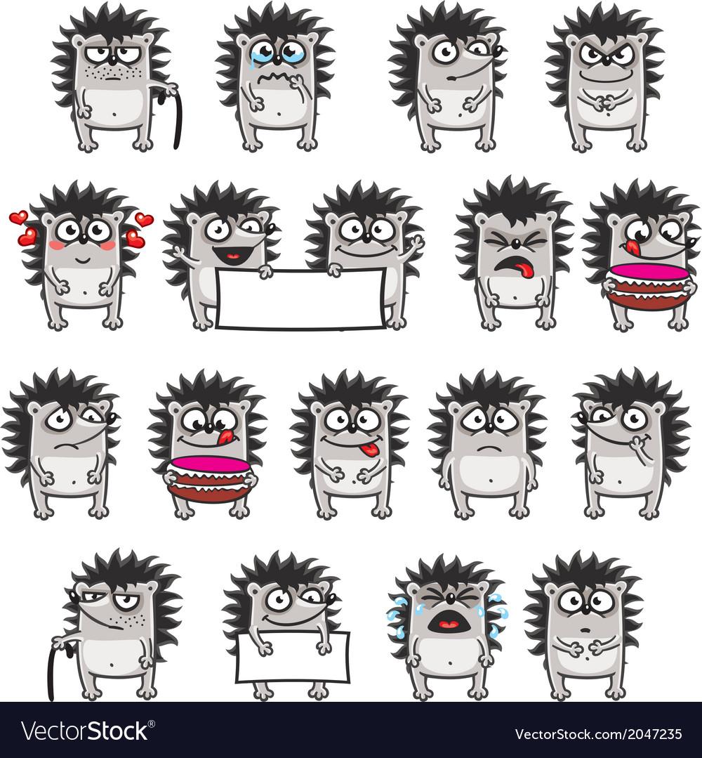 Smiley hedgehogs vector | Price: 1 Credit (USD $1)