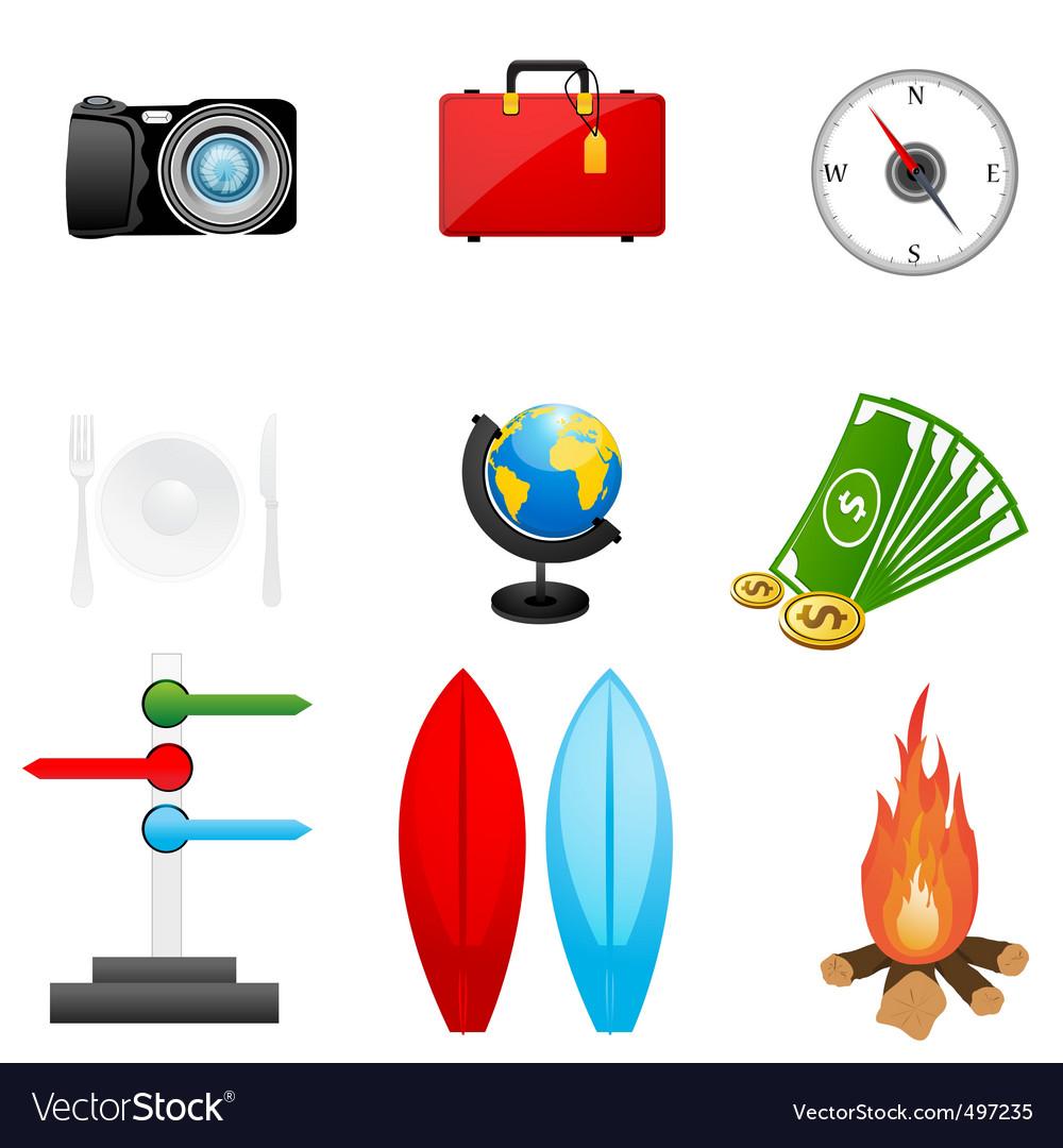 Travel icon vector | Price: 1 Credit (USD $1)