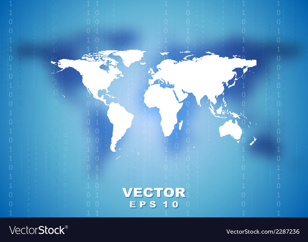 Abstract tech world map background vector | Price: 1 Credit (USD $1)