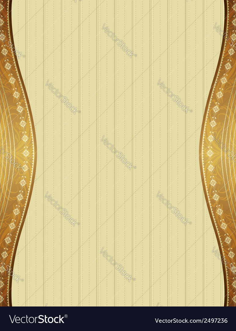 Beige background with decorative ornaments vector | Price: 1 Credit (USD $1)