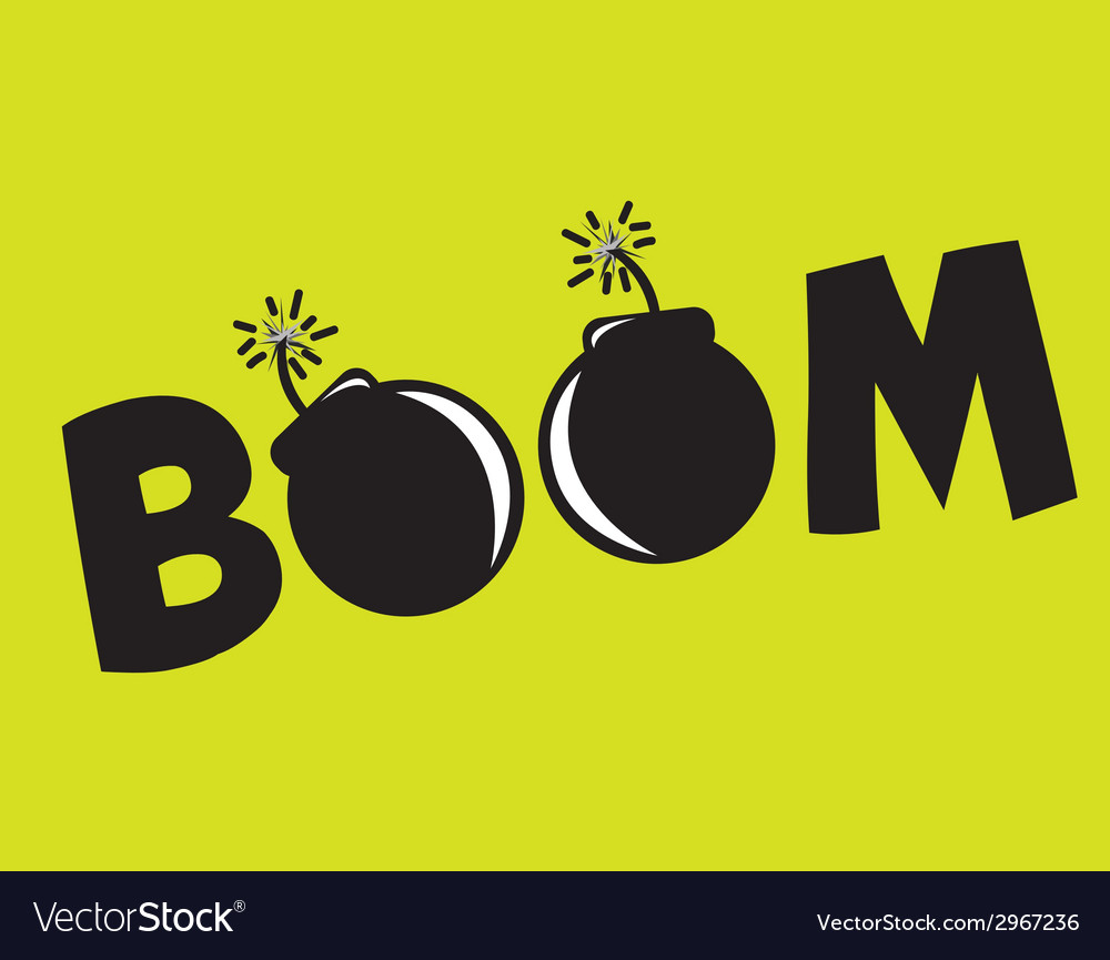 Boom design vector | Price: 1 Credit (USD $1)