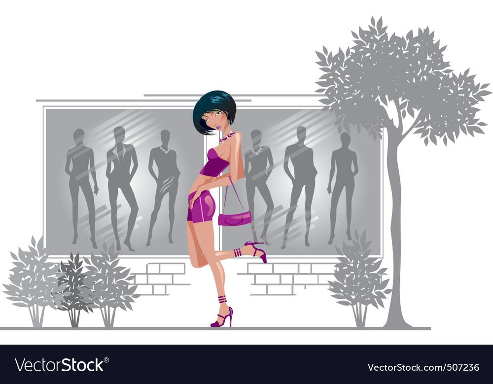 Girl vector | Price: 1 Credit (USD $1)