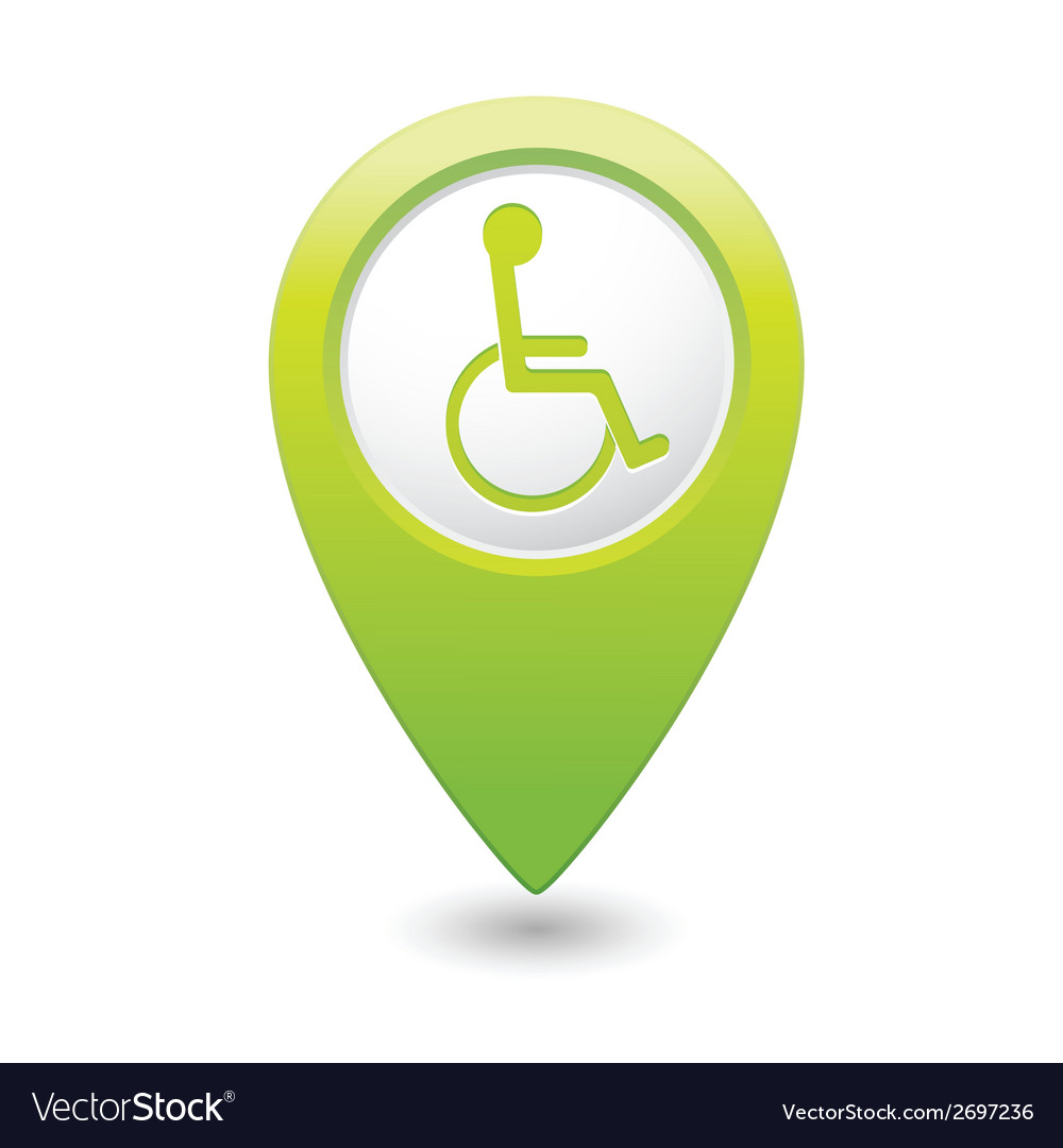 Handicap symbol on green marker vector | Price: 1 Credit (USD $1)