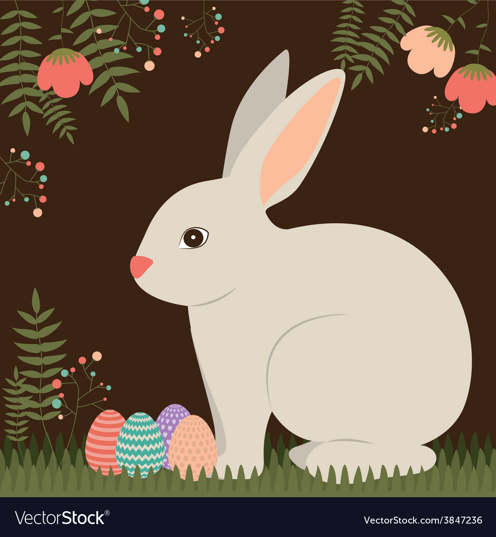 Happy easter card design vector   Price: 1 Credit (USD $1)
