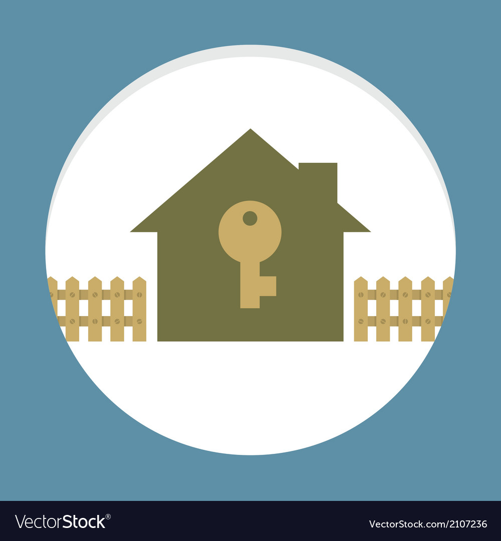 Home with key property concept card vector | Price: 1 Credit (USD $1)
