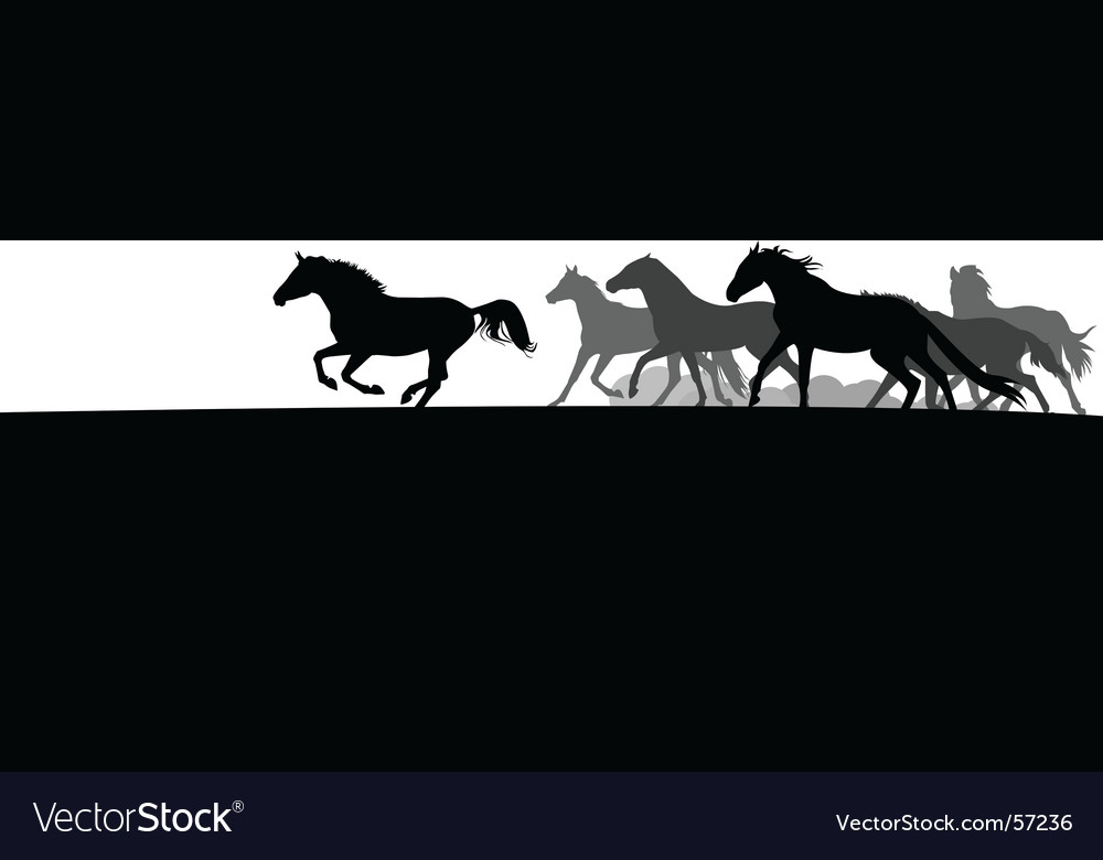 Horse herd vector | Price: 1 Credit (USD $1)