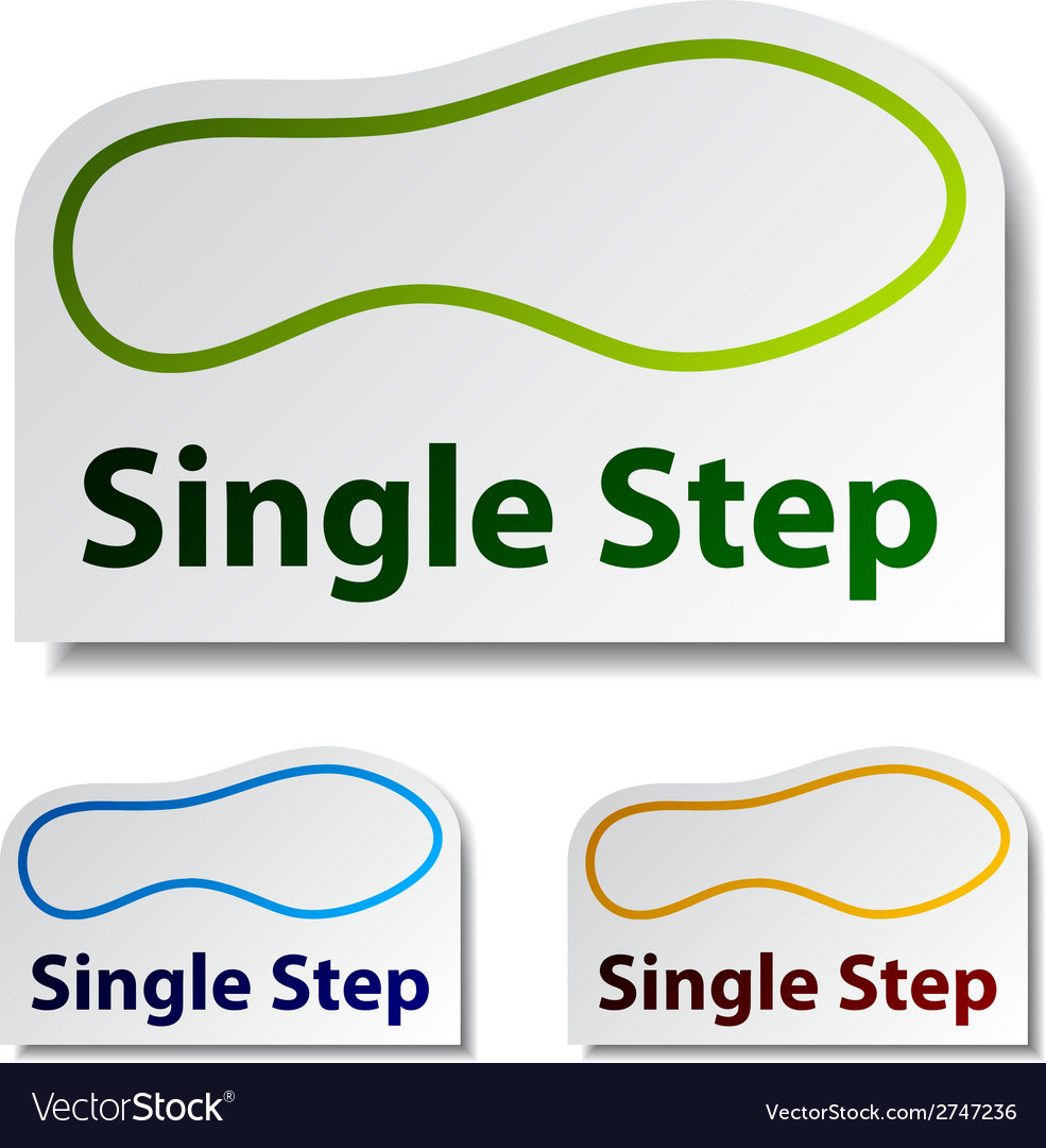 Imprint single step stickers vector | Price: 1 Credit (USD $1)