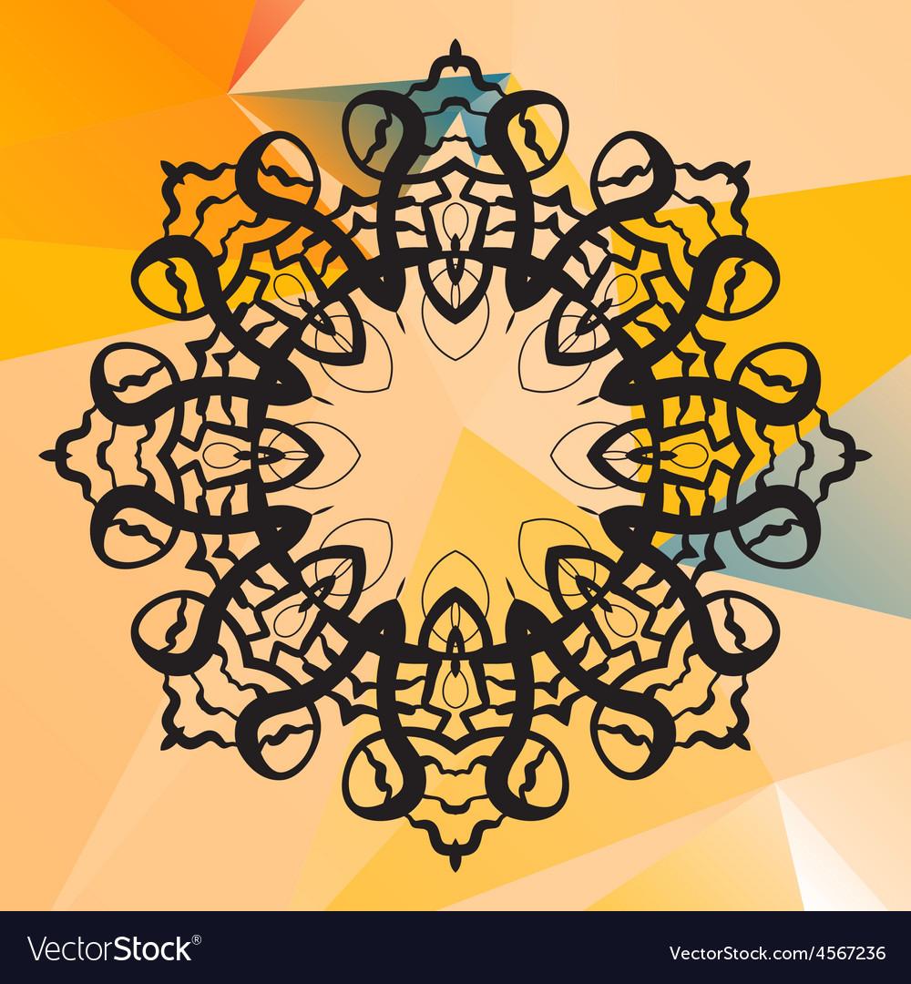 India mandala  geometric circle element vector | Price: 1 Credit (USD $1)