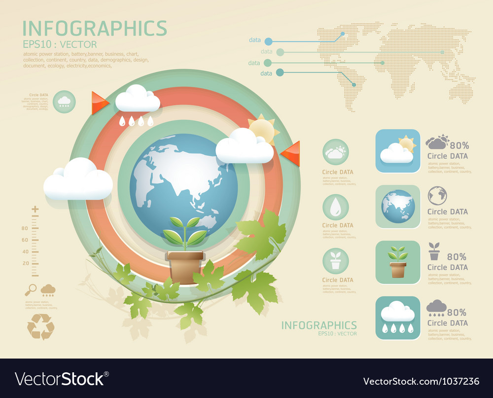 Infographic eco modern soft colo vector | Price: 1 Credit (USD $1)