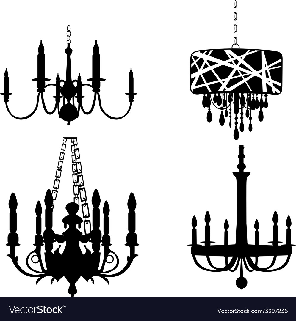 Set of chandelier designs vector | Price: 1 Credit (USD $1)