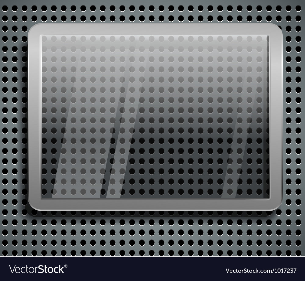 Advertising glass board on steel vector | Price: 1 Credit (USD $1)