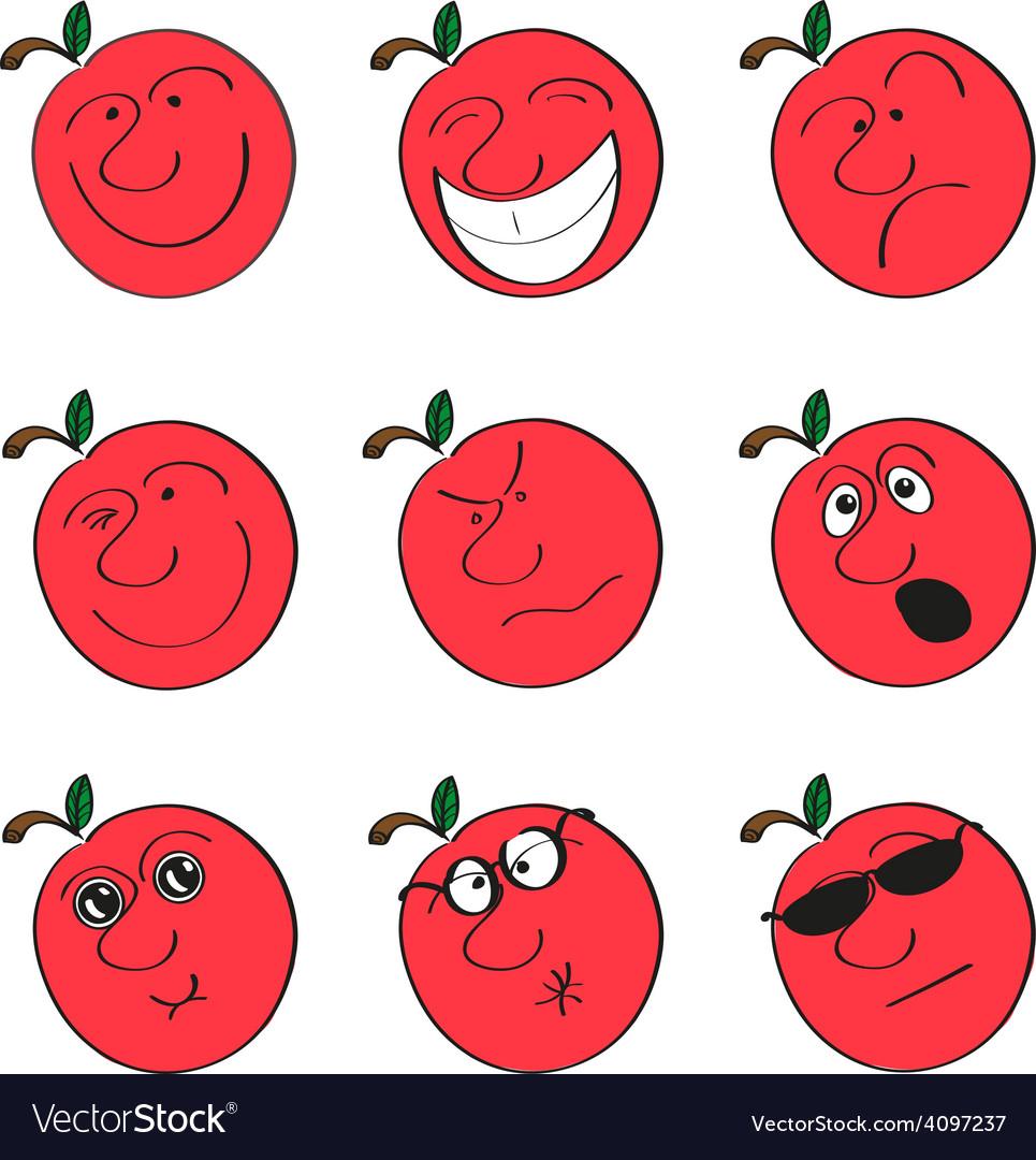 Apple smilies vector | Price: 1 Credit (USD $1)