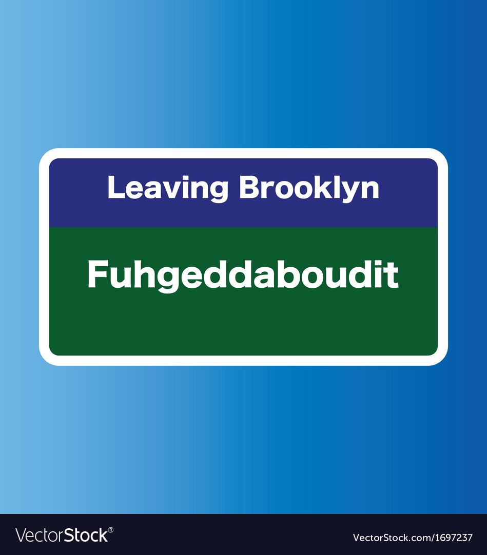 Brooklyn sign vector | Price: 1 Credit (USD $1)