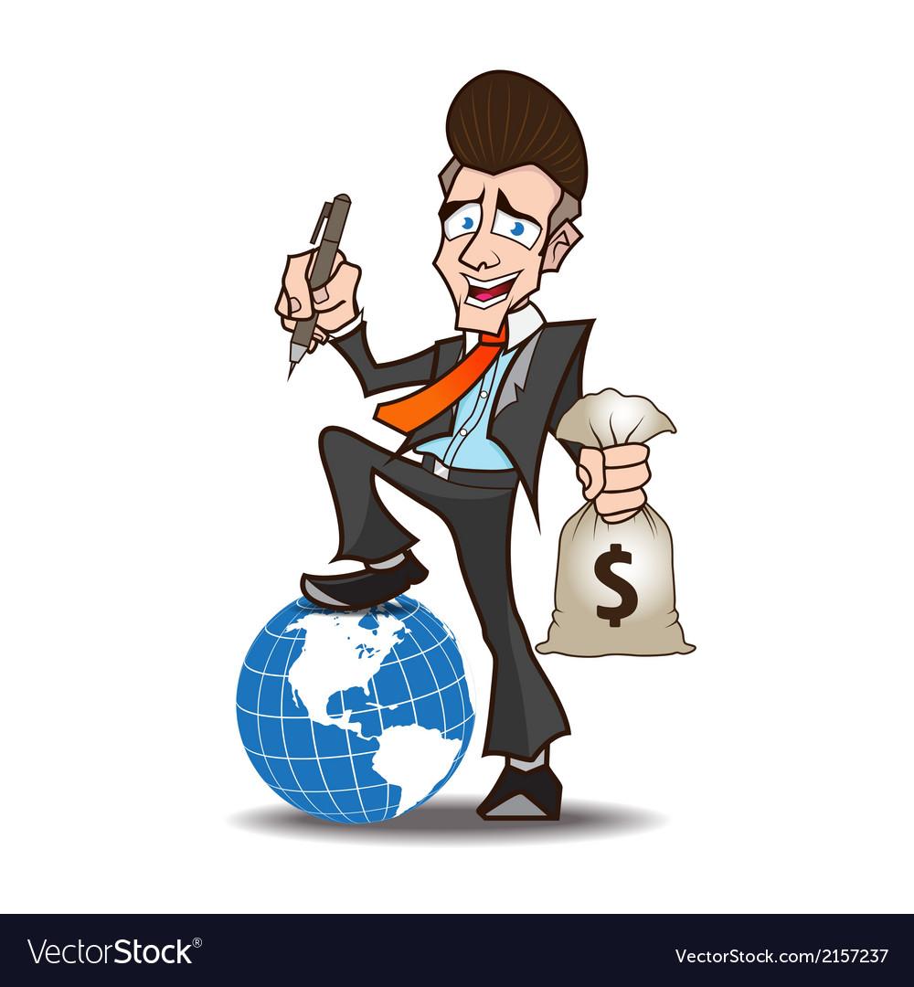 Businessman powerful cartoon vector | Price: 1 Credit (USD $1)