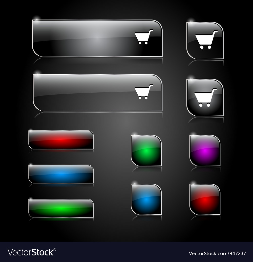 Buttons for web vector | Price: 1 Credit (USD $1)
