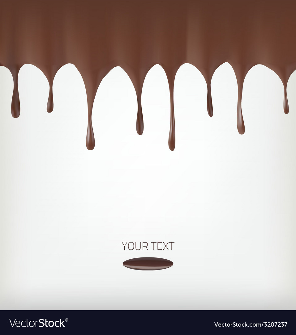 Chocolate streams vector | Price: 1 Credit (USD $1)