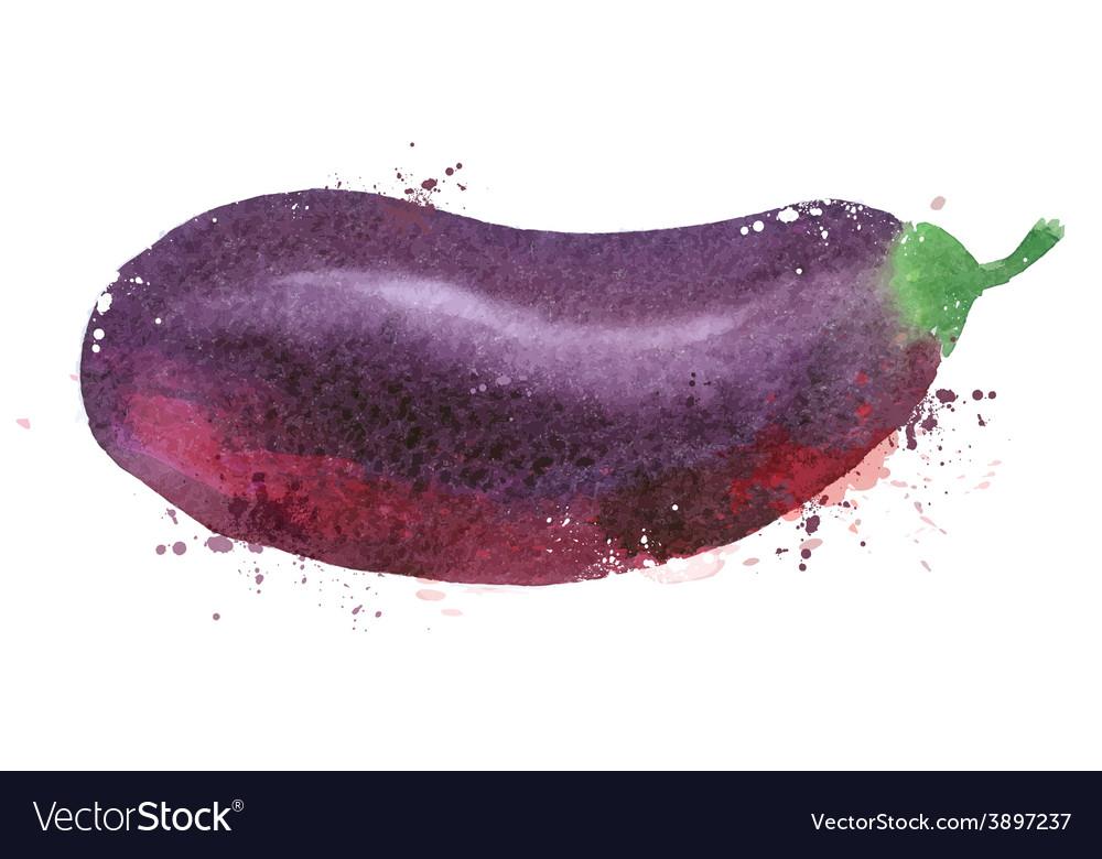 Eggplant logo design template vegetables vector | Price: 1 Credit (USD $1)
