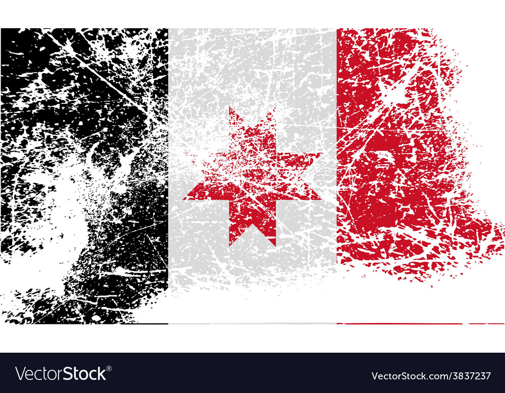Flag of udmurtia with old texture vector   Price: 1 Credit (USD $1)