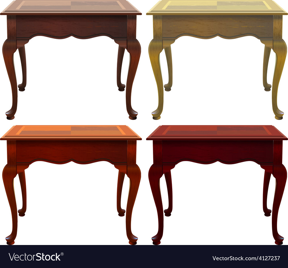 Four wooden tables vector | Price: 1 Credit (USD $1)