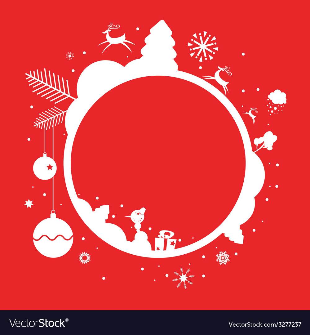 Holiday frame design vector | Price: 1 Credit (USD $1)