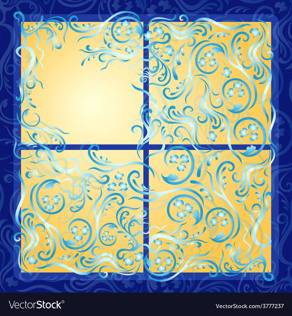 Lighting frozen window vector | Price: 1 Credit (USD $1)