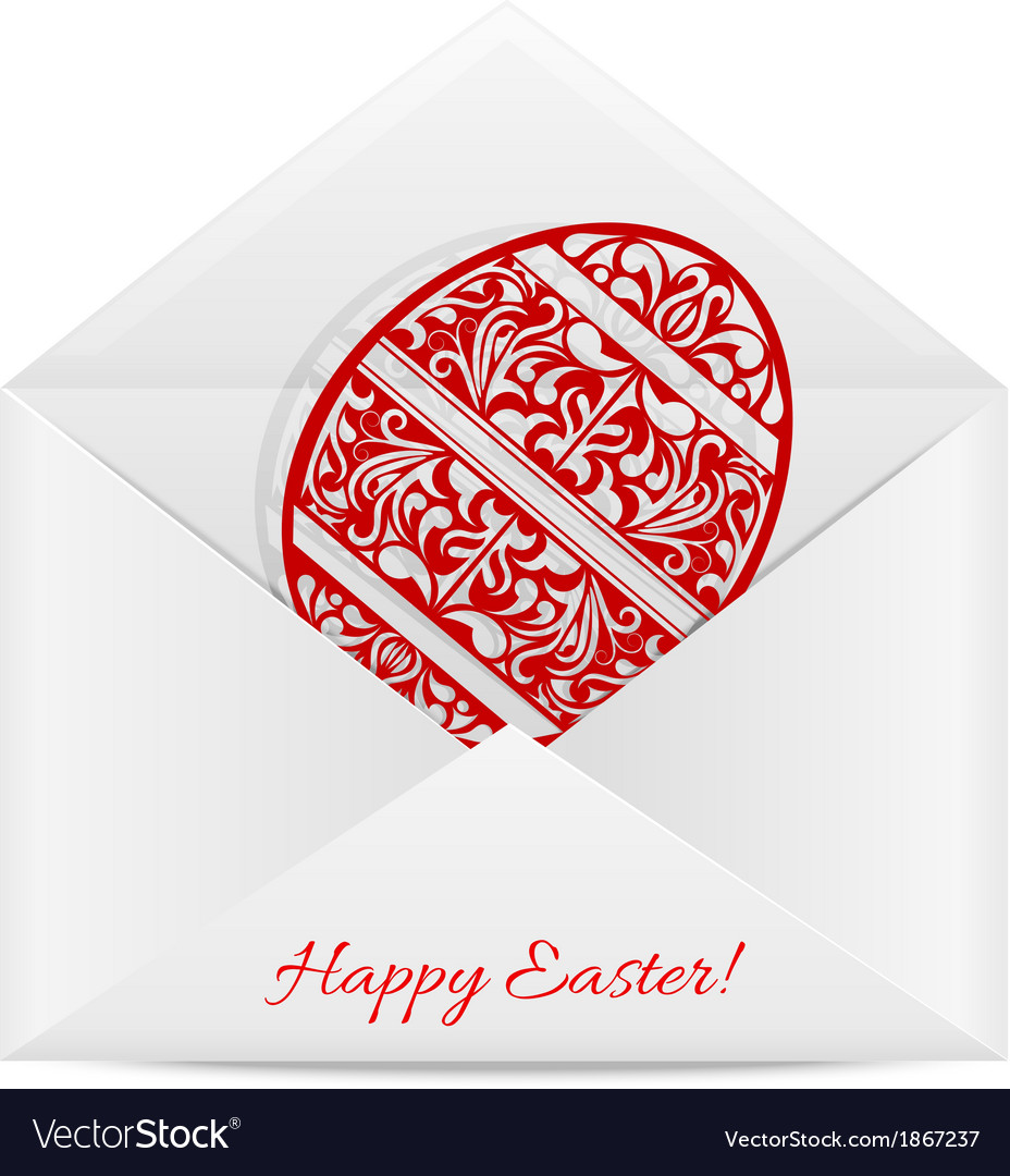 Paper envelope with a symbol of easter vector | Price: 1 Credit (USD $1)