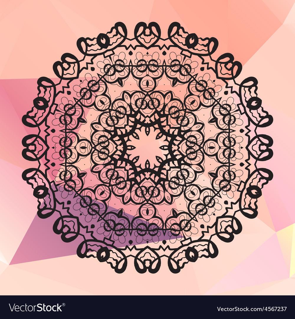 Round mandala geometric circle element made in vector | Price: 1 Credit (USD $1)
