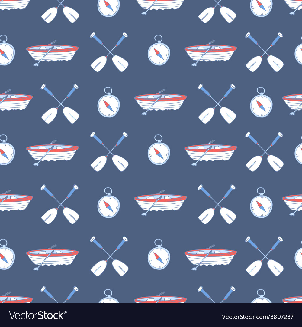 Seamless pattern with water sport equipment vector | Price: 1 Credit (USD $1)