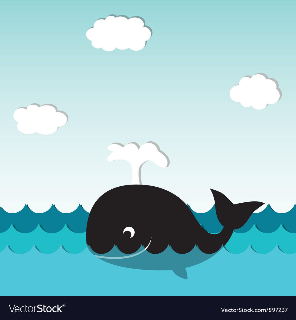 Smiling whale vector | Price: 1 Credit (USD $1)