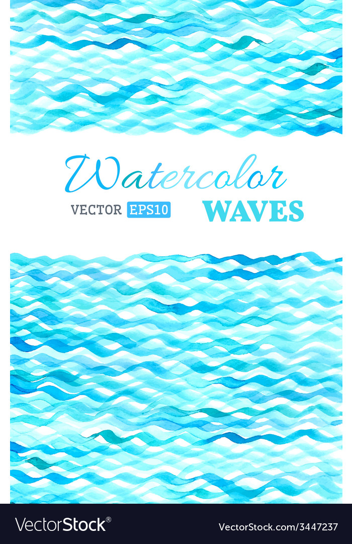 Watercolor waves background vector | Price: 1 Credit (USD $1)