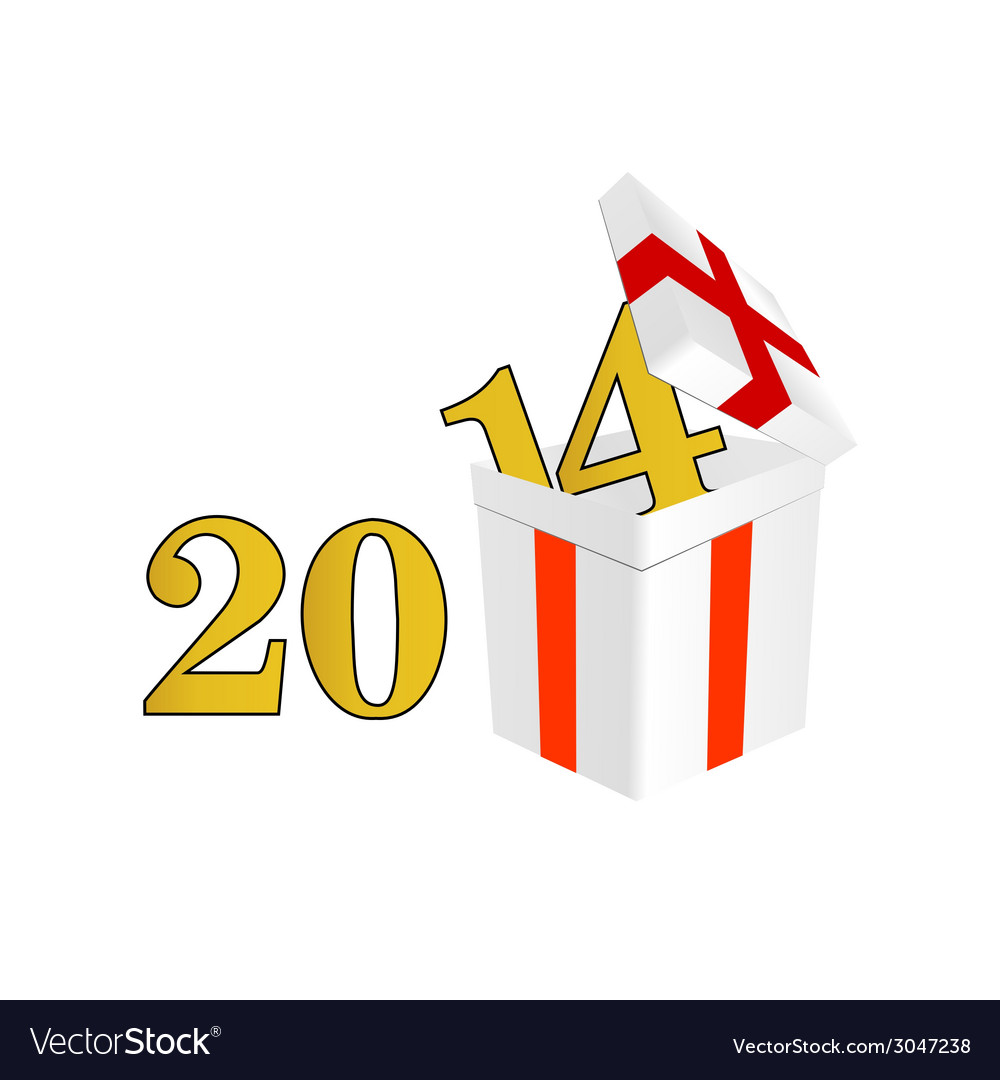 2014 year with a package and surprises vector | Price: 1 Credit (USD $1)