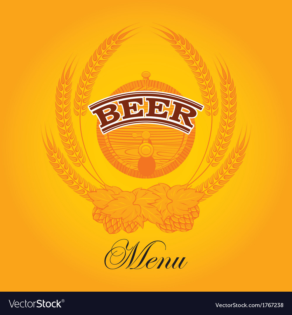 Beer menu mug vector | Price: 1 Credit (USD $1)