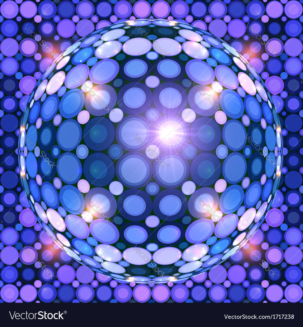 Blue shining disco ball vector | Price: 1 Credit (USD $1)