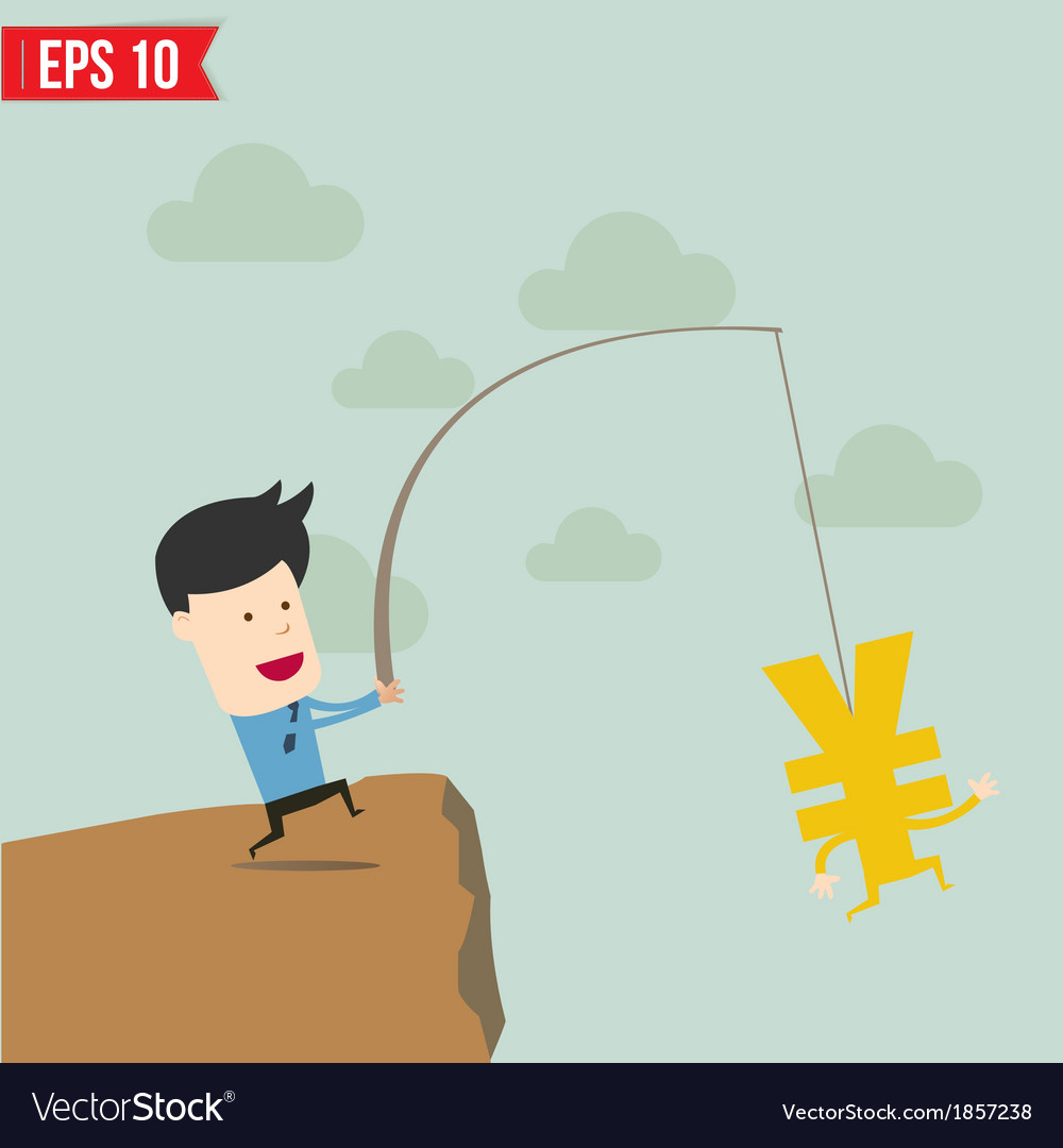 Businessman fishing concept vector | Price: 1 Credit (USD $1)