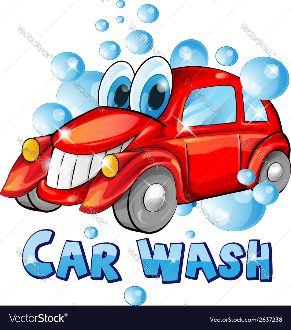 Car wash cartoon vector | Price: 1 Credit (USD $1)