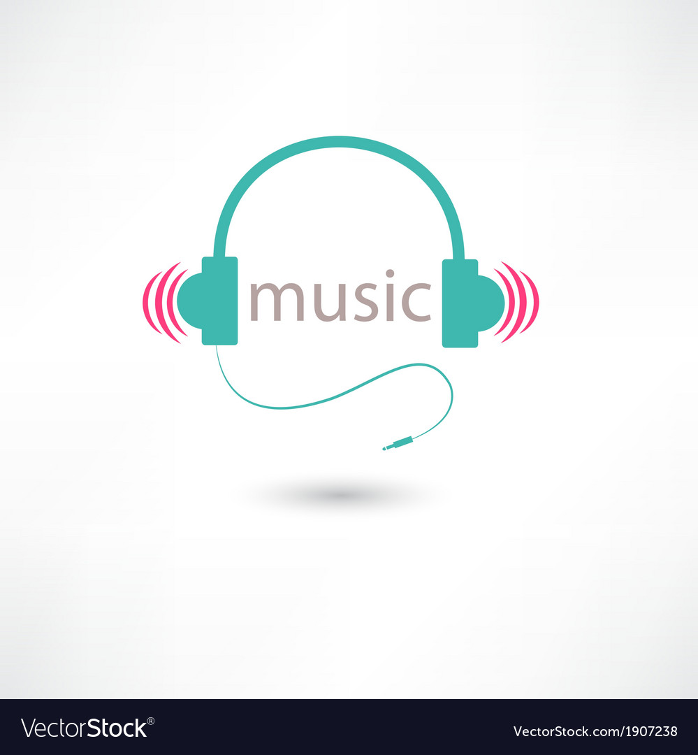Colored music headphones vector | Price: 1 Credit (USD $1)