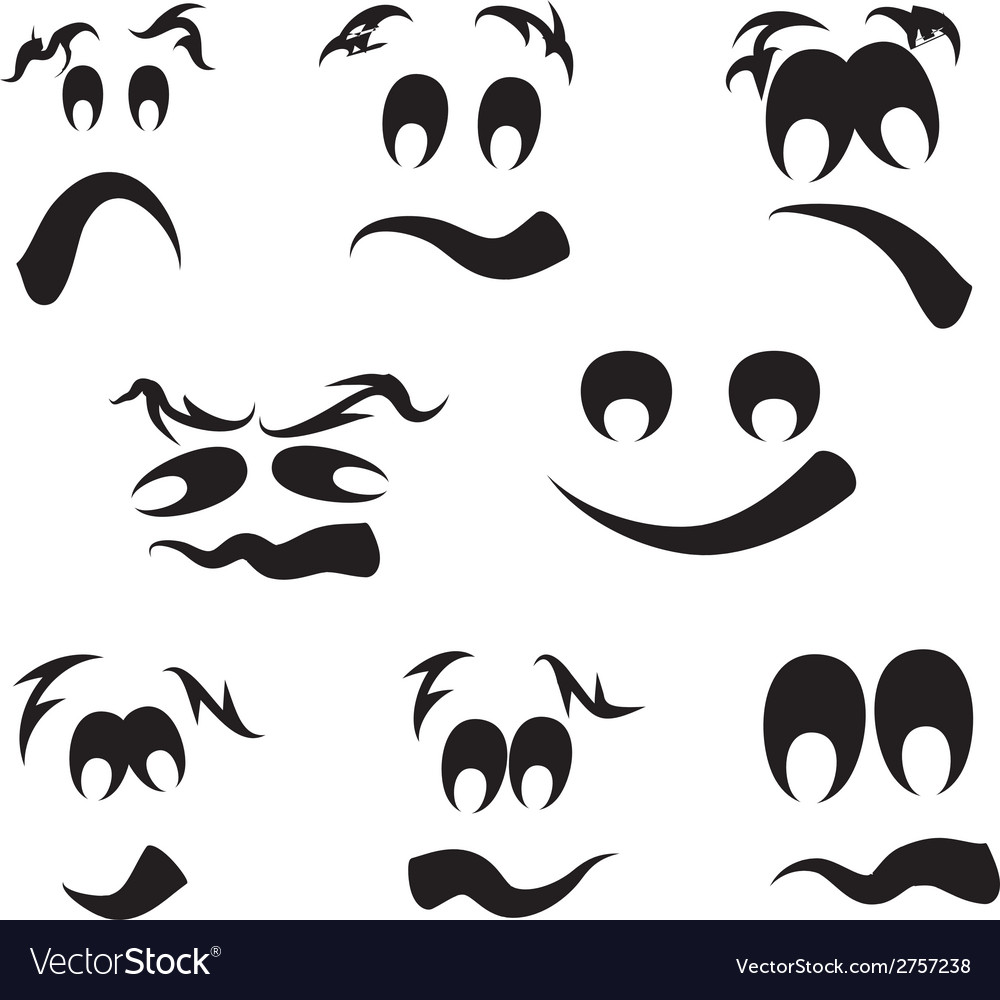 Ghost faces pumpkin faces vector | Price: 1 Credit (USD $1)