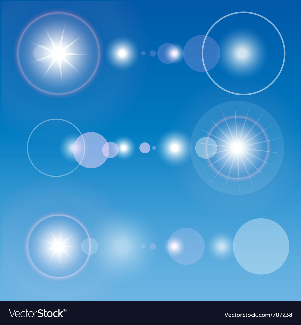 Lens flare set vector   Price: 1 Credit (USD $1)