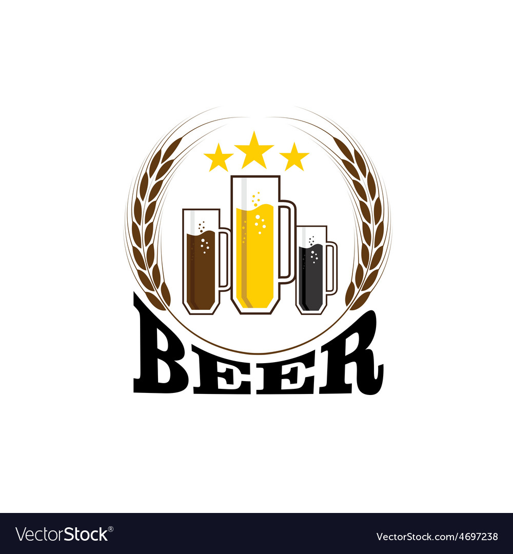 Mugs with beer vector | Price: 1 Credit (USD $1)