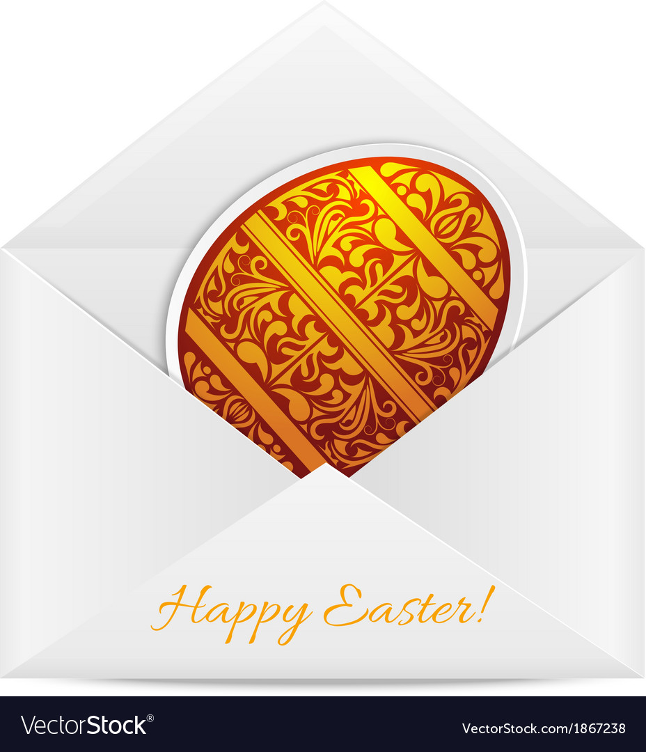 Paper envelope with a easter egg vector | Price: 1 Credit (USD $1)